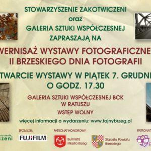Zaproszenie na wystawę II Brzeskiego Dnia Fotografii