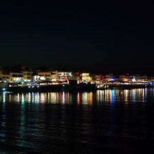 Hersonissos – port nocą