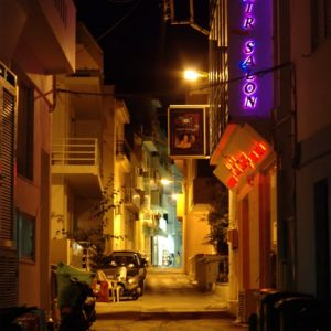 Nocna uliczka Hersonissos