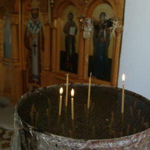 Wnętrze kościółka w Hersonissos