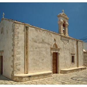 Kościół w Hersonissos – Koutouloufari w słoneczny dzień