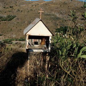 Kapliczka na południu Krety