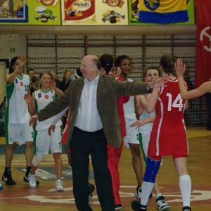 Radość trenera ze zwycięstwa