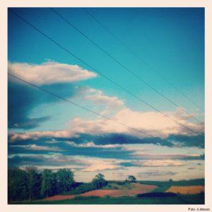 Niebo na trasie samochodu Lublin-Brzeg (2)