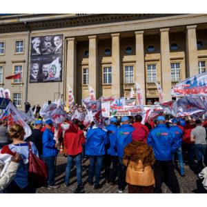 Protest dolnośląskiej Solidarności we Wrocławiu (25)