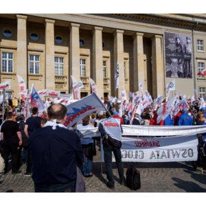 Protest dolnośląskiej Solidarności we Wrocławiu (26)