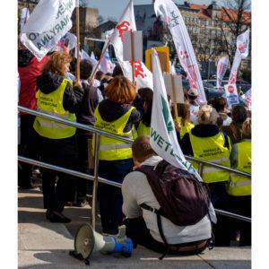 Protest dolnośląskiej Solidarności we Wrocławiu (30)