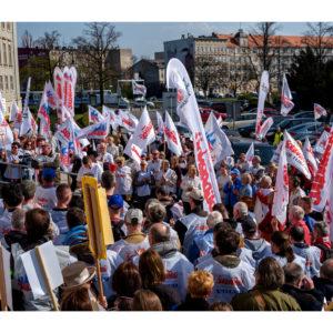 Protest dolnośląskiej Solidarności we Wrocławiu (31)
