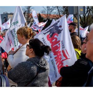 Protest dolnośląskiej Solidarności we Wrocławiu (33)