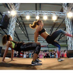 Fitness z Anną Lewandowską (12) – Katrin Kargbo i Anna Lewandowska