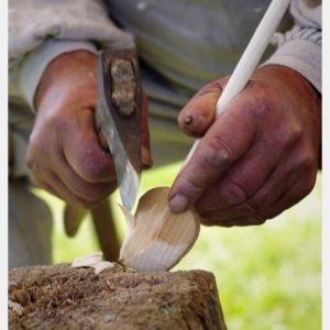 Ciosanie łyżki wGorlicach