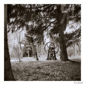 Ukryta pomiędzy drzewami